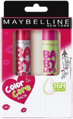 Maybelline New York Baby Lips Combo Manhattan Mauve, Watermelon