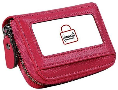 Flipkart SmartBuy Pocket Sized Business/Credit/Visiting/Debit Card Holder Case Wallet for Gift Pink 15 Card Holder