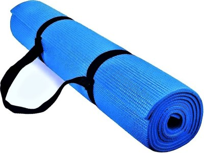 Quick Shel 100%EVA Eco Friendly Mat, Exercise & Gym Mat With Yoga Strap Blue 6 mm Yoga Mat