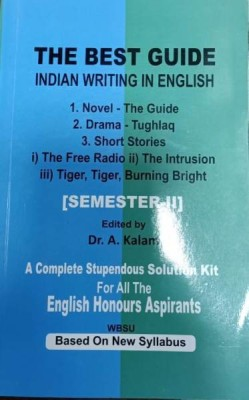 The Best Guide Indian Writing in English Novel,Drama,Poetry(WBSU)