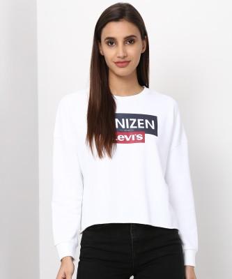 Denizen Full Sleeve Printed Women Sweatshirt