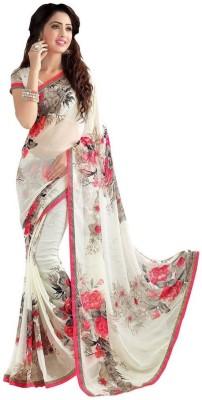 Saara Floral Print Bollywood Pure Chiffon, Heavy Georgette, Georgette Saree
