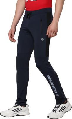 Alan Jones Solid Men Dark Blue Track Pants