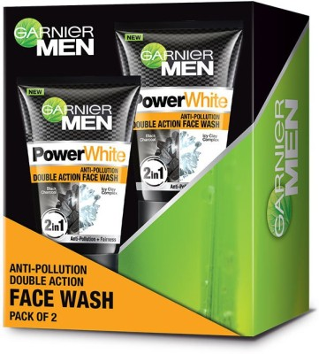 Garnier Power white Anti-Pollution Double Action Facewash, Pack of 2 Face Wash