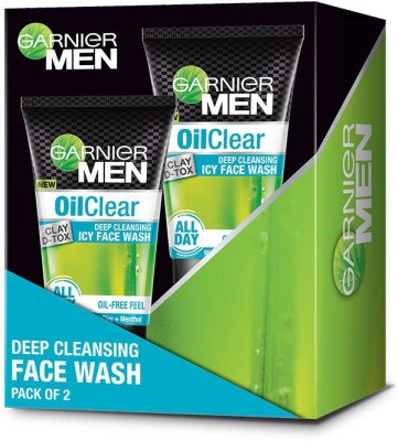 Garnier Oil Clear Deep Cleansing Icy Facewash, Pack of 2 Face Wash