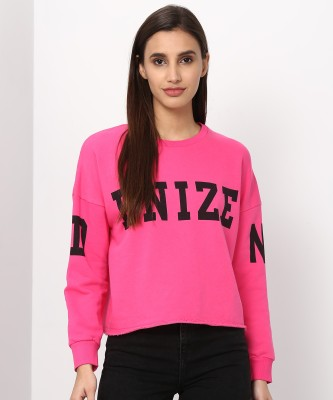 Denizen Full Sleeve Printed Women Sweatshirt