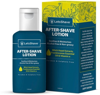 LetsShave AfterShave soothing and cooling alcohol-free Lotion for Men- 100ml