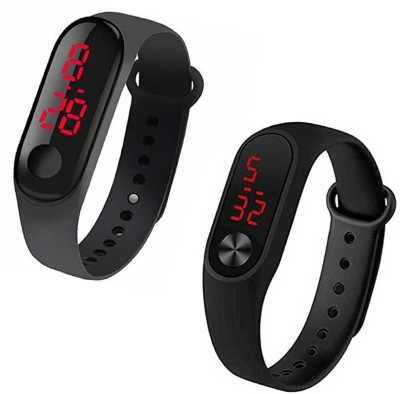 LOREO Combo Set Of Two New Kids Unique Digital Black Boys And Girls M3 And M2 Digital Watch  - For Boys