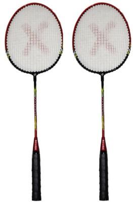 Xcube FastPro Red Strung Badminton Racquet