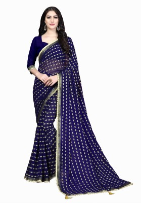 Aashvi Creation Solid, Embroidered, Embellished Fashion Silk Blend, Lace, Jacquard Saree
