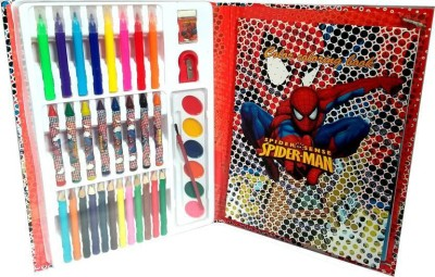 FORE TREND Spiderman COLORING BOOK with Coloring Book and Coloring Set N/A Shaped Color Pencils