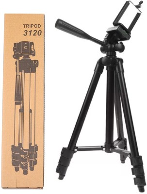 BUY SURETY Tripod-3120 Best Portable Adjustable Lightweight Mobile Stand With Three-Dimensional Head & Quick Release Plate|| 3120 Portable tripod || 360 degree Rotatable|| Camera stand || Extendable tripod || With Mobile Clip Mount Tripod