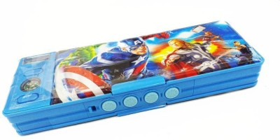 kuku Avenger Character Pencil Box With Protected Password ( Multi-color) Cartoon Art Plastic Pencil Box