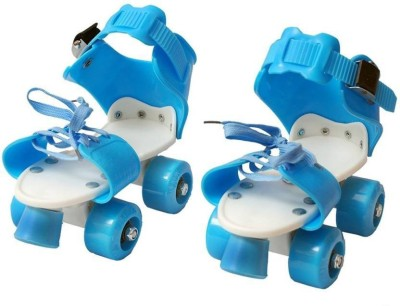 M-Alive Quad RollerSkates with front break adjustable size for kids age 5-12 years Quad Roller Skates - Size 4 UK