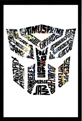 SA TRANSFORMER COLOR POSTER 300 GMS WITH FRAME Photographic Paper