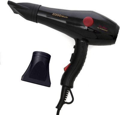 AKR 2000 Watts For Hair Styling With Cool and Hot Air Flow Option 2800w Hair Dryer (2000 W, Black) Professional Professional regular use powerful machine Hair Dryer (2000 W, Black) Hair Dryer