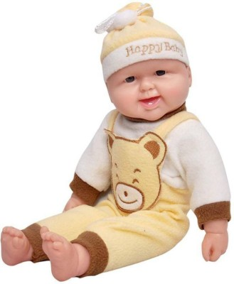 Amaze Sport Laughing Boy Doll, Press for Music, [Yellow-Brown]