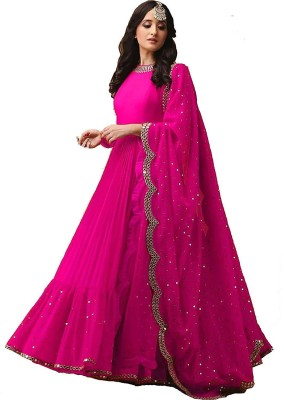 color bucket Georgette Embellished Salwar Suit Dupatta Material