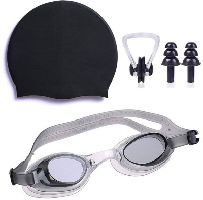 Gawin Swimming Cap, Googles And Nose-Ear Plug Swimming Kit
