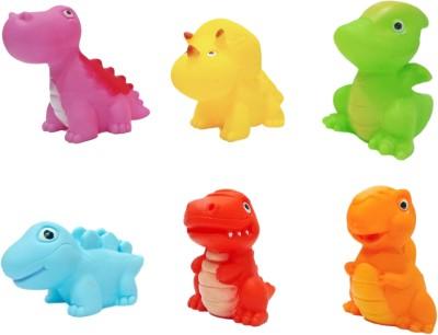 Miss & Chief bath dinosaurs - 6pcs Bath Toy