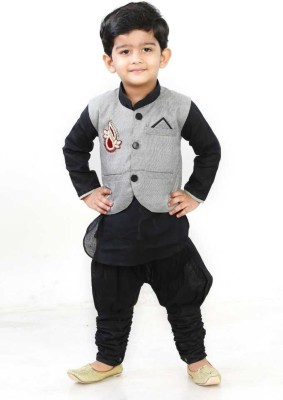 Digimart Boys Festive & Party Kurta, Waistcoat and Breeches Set