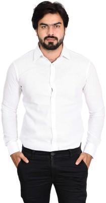 dikshaa Men Solid Casual White Shirt