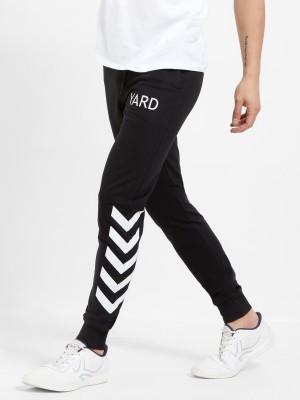 Maniac Printed Men Black, White Track Pants