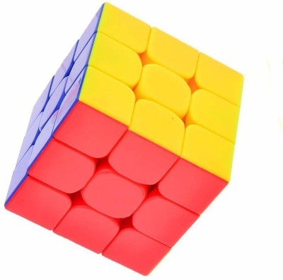 DealBindaas High Speed Stickerless 3x3x3 Magic Rubik Cube