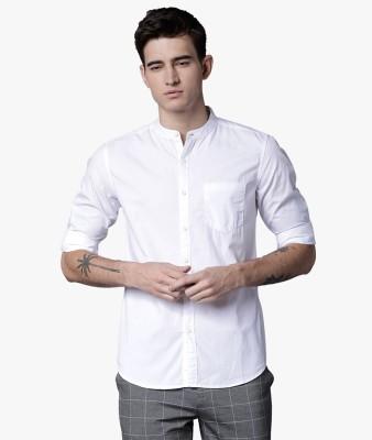 Highlander Men Solid Casual White Shirt