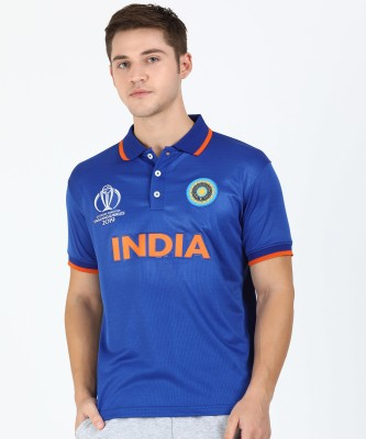 ICC Cricket World Cup Sports Men Polo Neck Blue T-Shirt