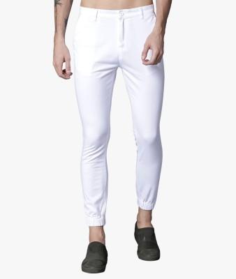 Highlander Slim Fit Men White Trousers