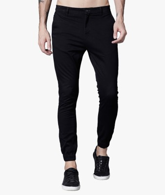 Highlander Slim Fit Men Black Trousers