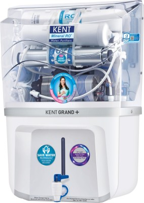 Kent Grand Plus Plus New Mineral RO With In Tank UV 9 L RO + UV + UF + TDS Water Purifier