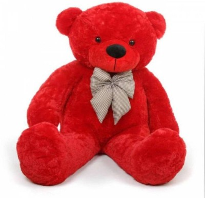 TedsTree 4 feet red the most beautiful teddy bear /high quality teddy bear /soft and cute /anniversary gift  - 118.21 cm