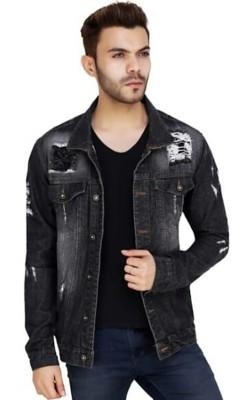 ARBIA FANKI Full Sleeve Washed Men Denim Jacket