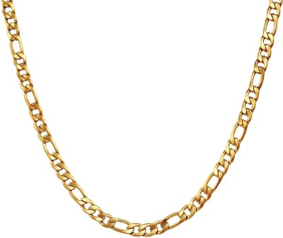 Divastri Elegant Statement Sachin Collection Gold-plated Plated Stainless Steel Chain