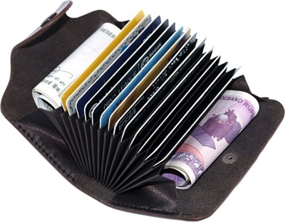Stealodeal Exclusive Leatherite Coffee Atm Wallet Clutch 15 Card Holder