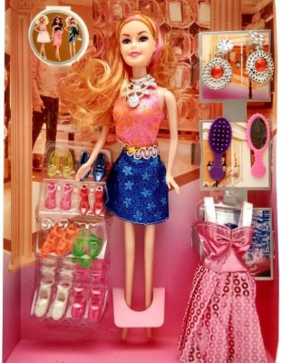 Kiyara Collection TOYS HAPPY GIRL DOLL SERIES WITH DOLL DRESSES SET FOR KIDS