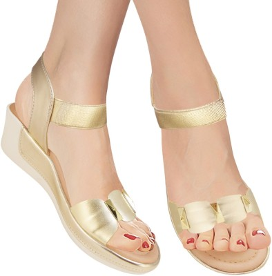 Action Women Gold Wedges
