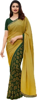 THE RED LION ENTERPRISE Self Design Bollywood Poly Silk Saree