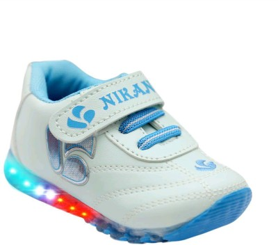 Hooh Boys & Girls Velcro Running Shoes