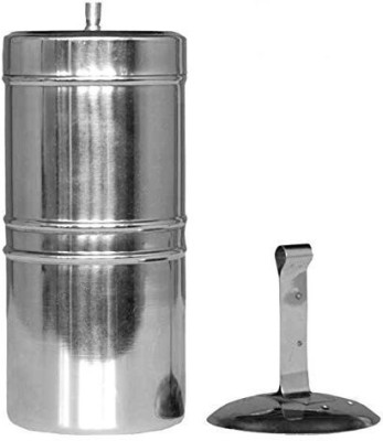 KM Stainless Steel South Indian Filter Coffee Drip Maker,150ml Indian Coffee Filter 2 Cups Coffee Maker