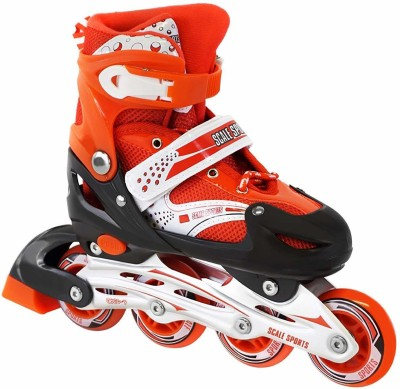 Authfort Inline Skates Size Adjustable All Pure PU Wheels it has Aluminum-Alloy which is Strong with LED Flash Light on Wheels In-line Skates In-line Skates - Size 7-10 UK