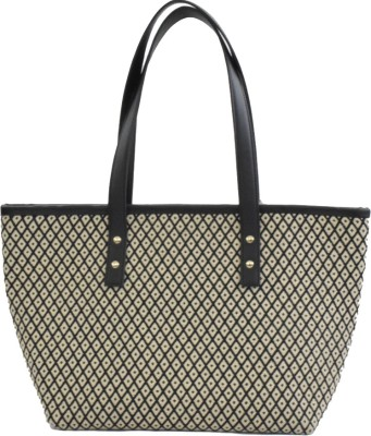 Thread sutra Women White, Black Tote
