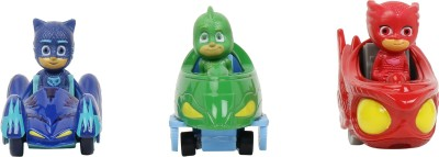 Simba Pj Mask 3-Pack Cat Car,Gekko, Owlette in one mission Set Toys