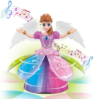 Miss & Chief Sing- Along Dancing Rotating Fairy with Blossoming Petal Skirt and Wings