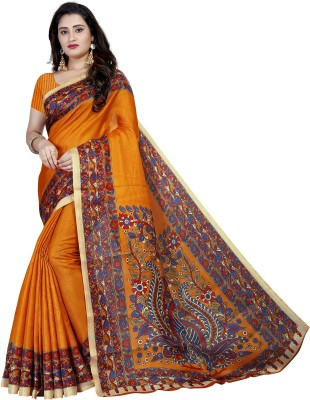Vimalnath Synthetics Printed Kalamkari Cotton Blend Saree