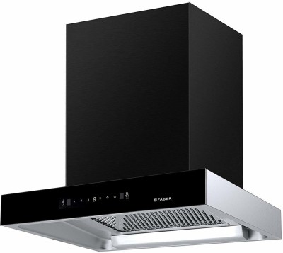 FABER Jupiter HC SC BK 60 cm, Baffle Filter, Touch & Gesture Control, 1350 m�/hr Auto clean Wall Mounted Chimney