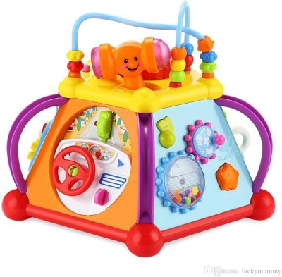 Jsk enterprise 10 in 1 Learning Activity Pyramid Center with Lights and Sound