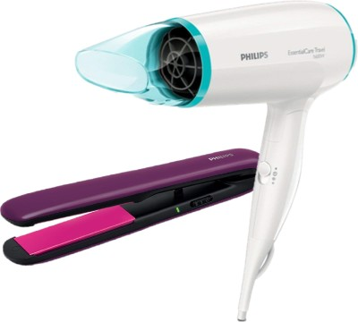 Philips Hair Dryer BHD006/00 + Hair Straightener BHS384/00 Personal Care Appliance Combo